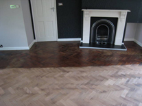 Teak Woodblock Herringbone